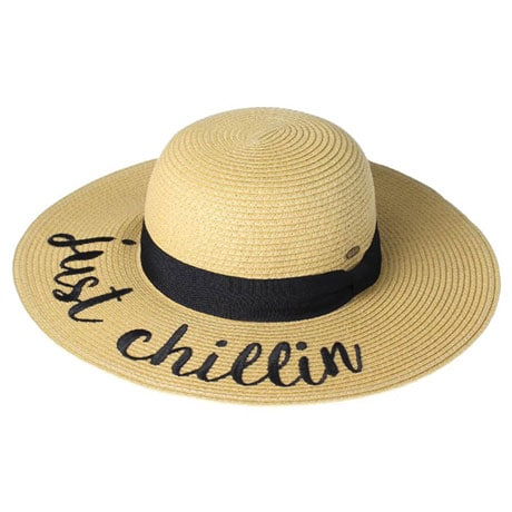 Embroidered Straw Hats