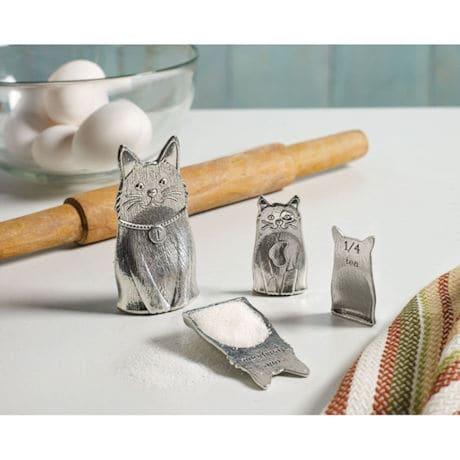 Pewter Cat Family - Measuring Spoon Set