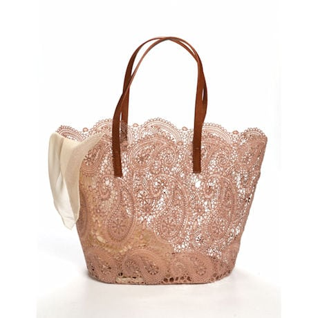 Paisley Lace Tote