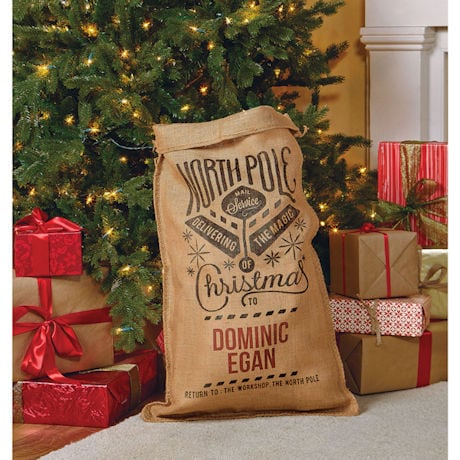 Personalized North Pole Christmas Sack