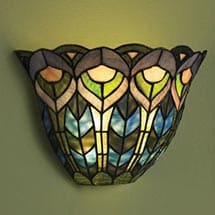 Wonderful Wireless Wall Sconce   Peacock