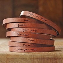 Leather Message Bracelets