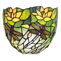 Art Glass Wall Sconce   Dragonfly
