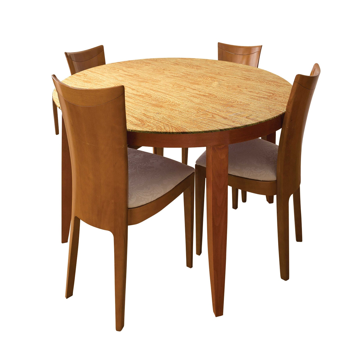 Fitted Round Table Covers - Indoor/Outdoor Decorative Stretc