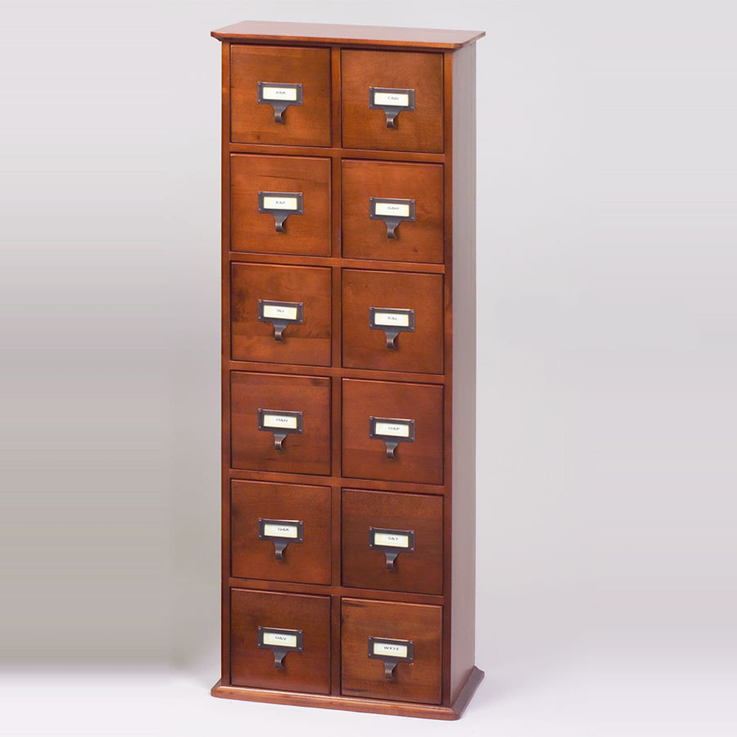 Library Card Catalog Cd Dvd Storage Cabinet 12 Drawer Stores 228