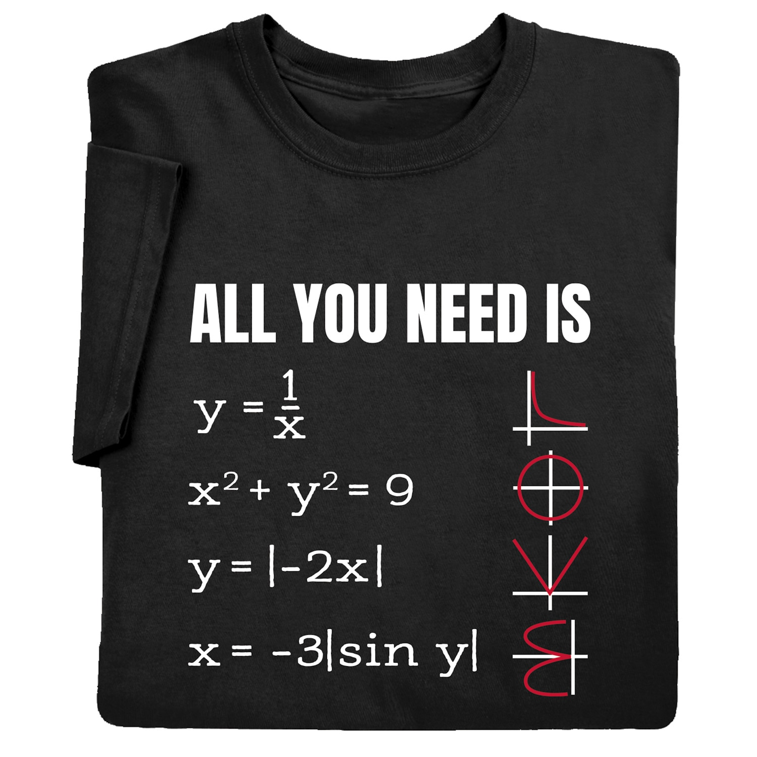 Black What on Earth Men/'s Math Functions Graph Sweatshirt All You Need Is Love