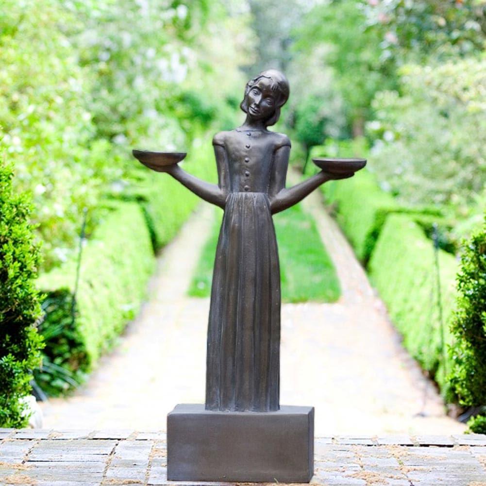 Resin Bird Girl Garden Statue Sculpture Feeder Medium 28 Sylvia Shaw Judson Ebay