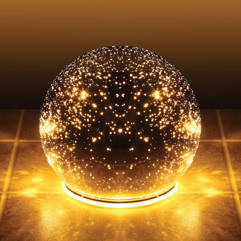 Outdoor Lighted Spheres Lighted mercury glass sphere gazing ball battery powered ebay lighted mercury glass sphere gazing ball battery powered workwithnaturefo