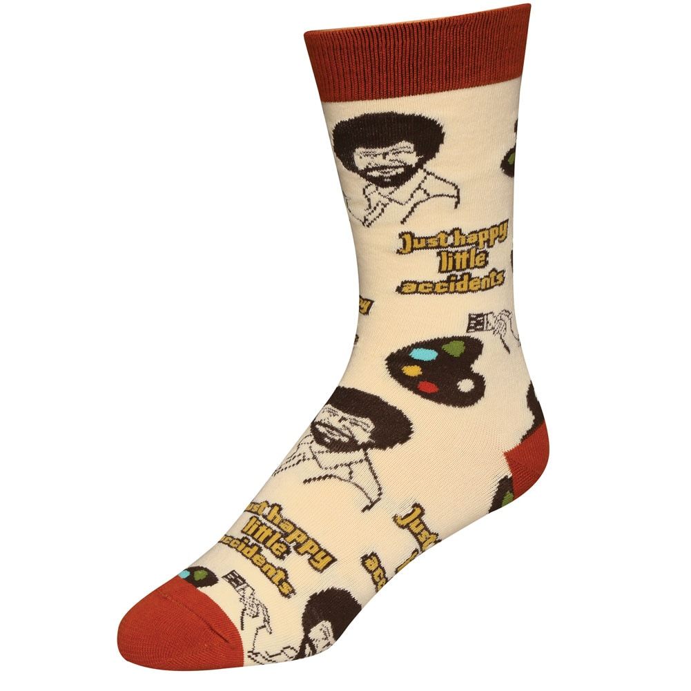luxury select for original exceptional range of styles Details about Men's Bob Ross Socks - Iconic Host of The Joy of Painting -  Happy Accidents