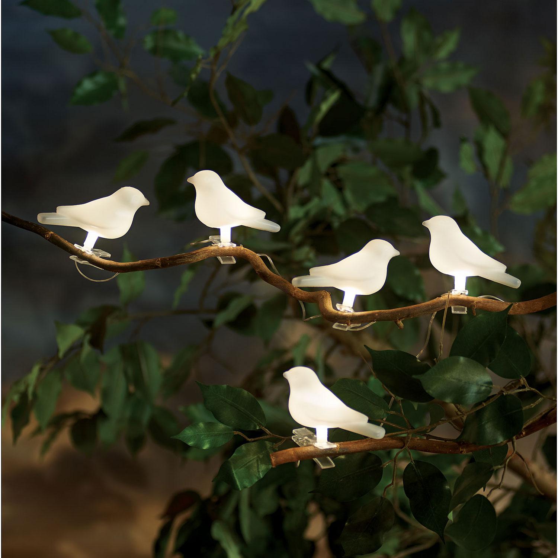 Outdoor String Lights Ikea Uk: Solar-Powered Lighted Birds Light String