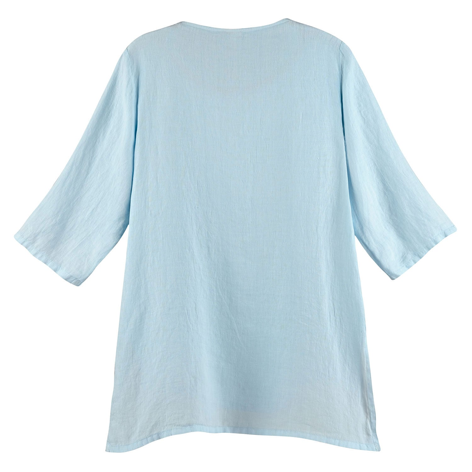 thumbnail 8 - Women's Tunic Top - Long Layered Linen Blouse with 3/4 Sleeves