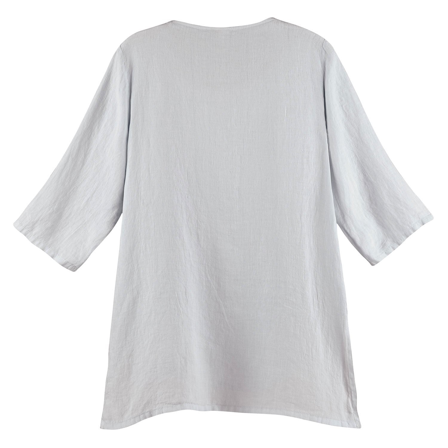 thumbnail 10 - Women's Tunic Top - Long Layered Linen Blouse with 3/4 Sleeves