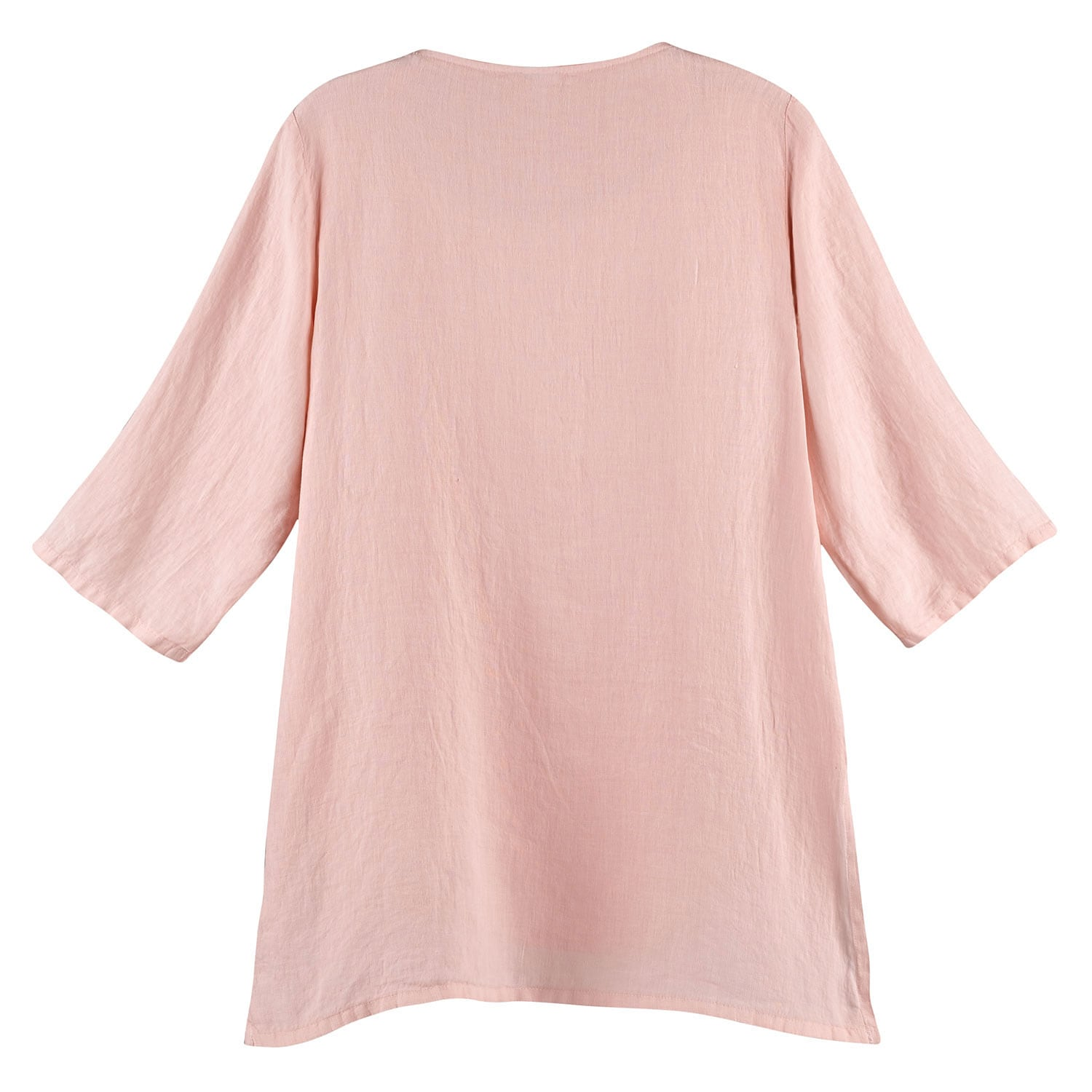 thumbnail 12 - Women's Tunic Top - Long Layered Linen Blouse with 3/4 Sleeves