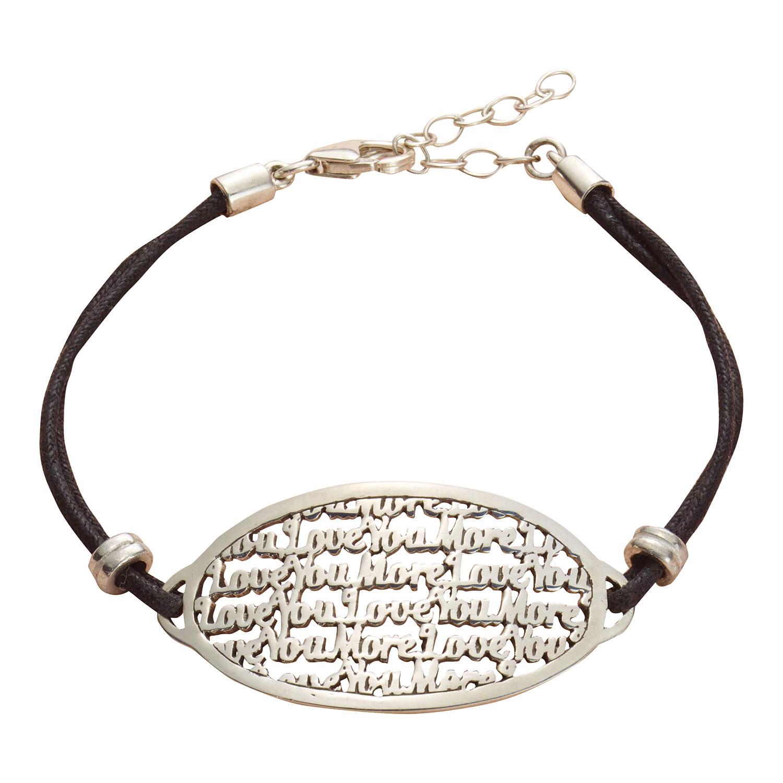 Women S Love You More Bracelet Sterling Silver Message Jewelry
