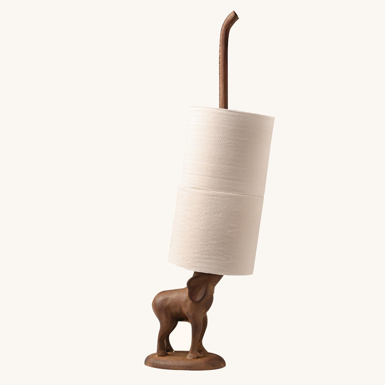 Elephant Toilet Paper Or Paper Towel Holder Cast Iron