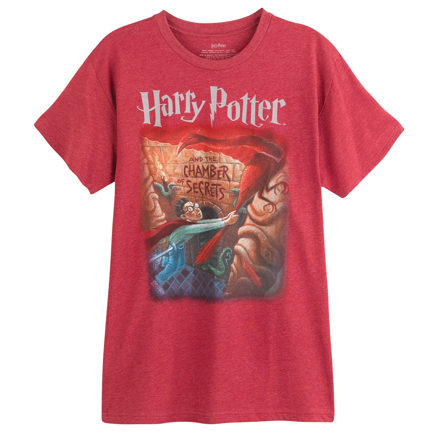 4153cc24e19 Details about Out of Print Unisex Harry Potter and the Chamber of Secrets  Book Cover T-Shirt