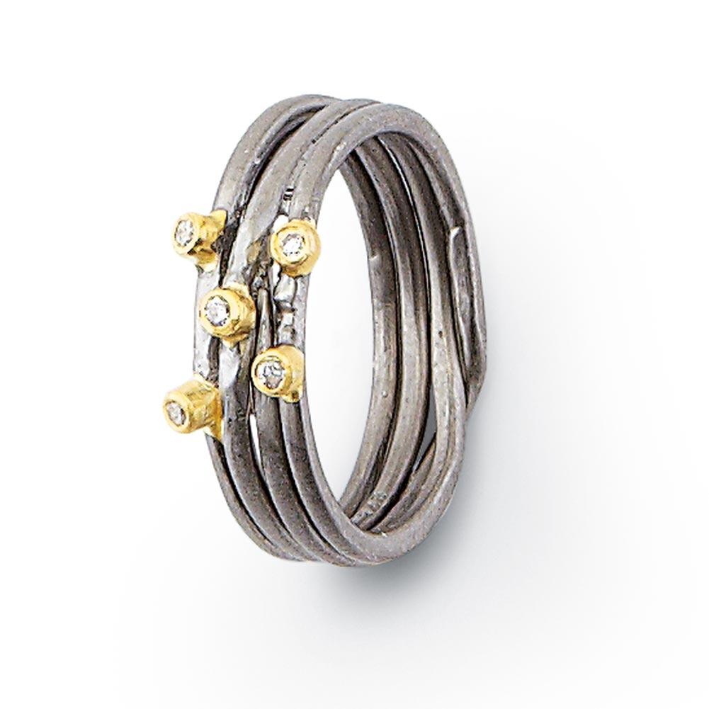FLORIANA Bitti Precious Stone Sterling Silver Ring - Diamond at Sears.com