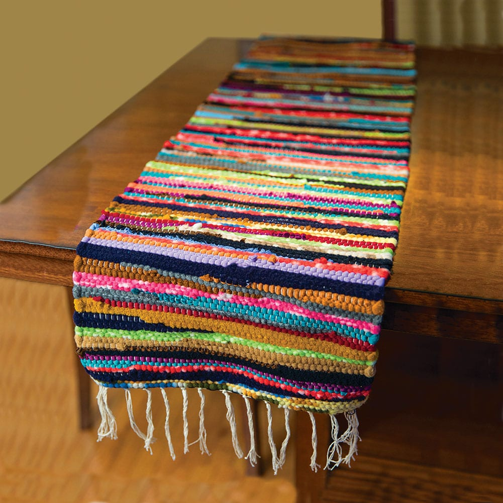 Cotton Rag Rug Table Runner