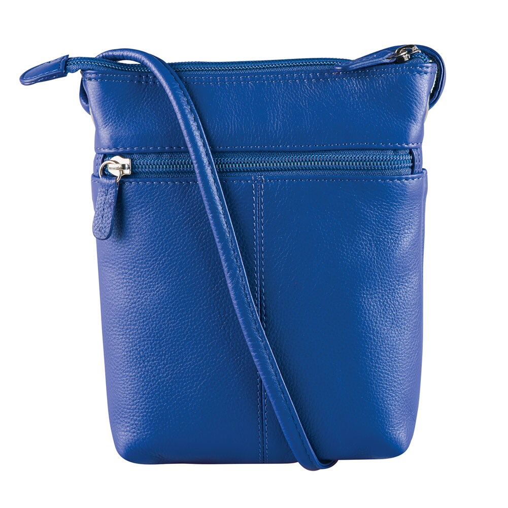 Universal Direct Brands CTM Womens Leather Classic Crossbody Handbag