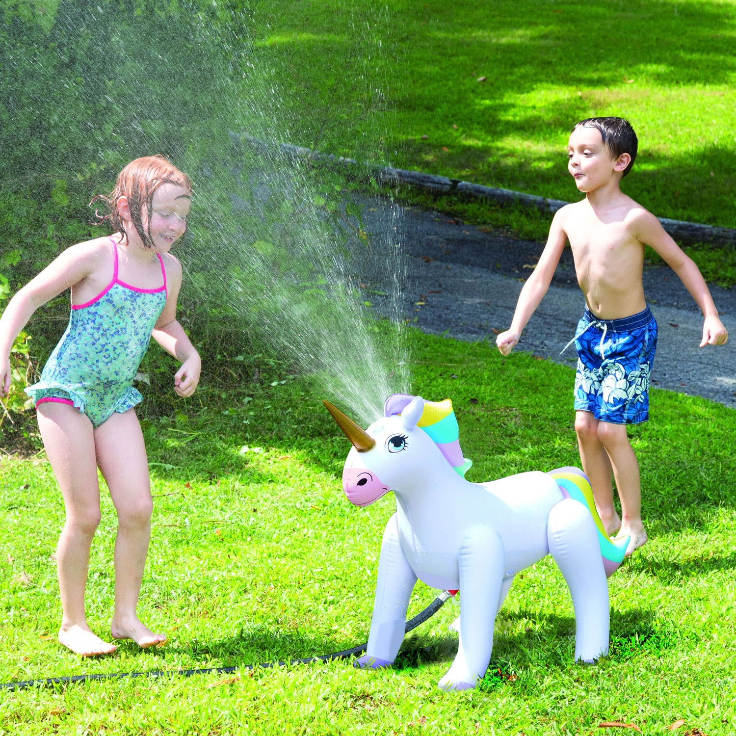 thumbnail 17 - Etna Inflatable Water Sprinklers -Unicorn, Rainbow, Dinosaur Water Toys for Kids